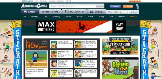 Top website chơi game miễn phí.