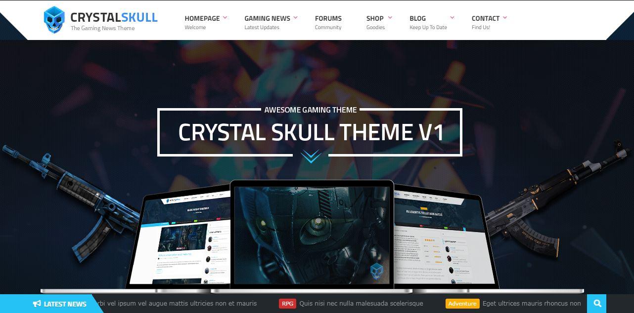 Crystal Skull - mẫu website giới thiệu game đẹp