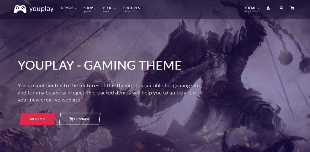 Top 10 mẫu website giới thiệu game nổi bật năm 2019