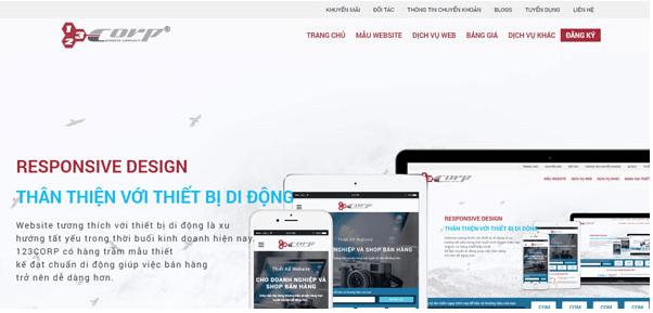 Công ty thiết kế web chuẩn 123Corp