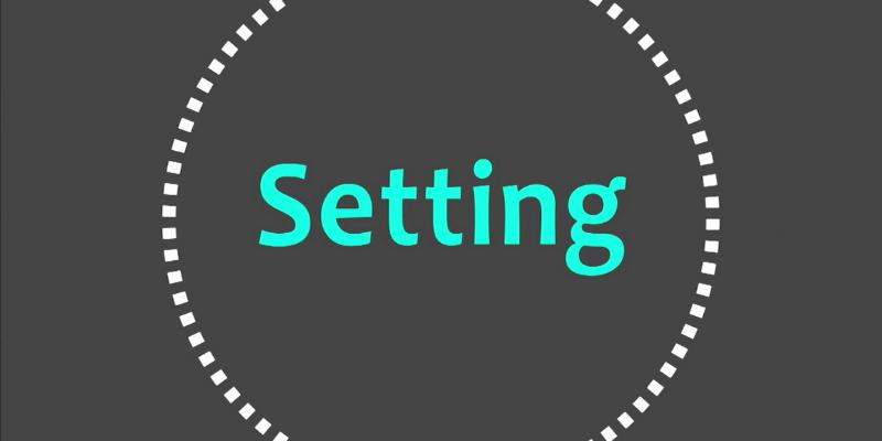 setting tùy chỉnh